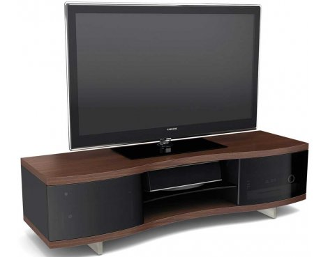 BDI Chocolate Walnut Curved Cabinet For TVs up to 70""