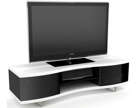 BDI White Curved Cabinet For TVs up to 70""