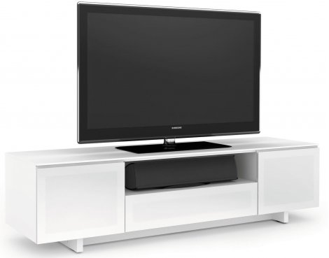 BDI Luxury Nora Gloss White TV Cabinet