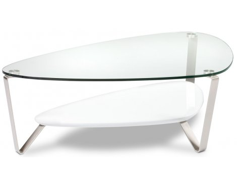 BDI Dino 1343 Gloss White Coffee Table