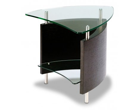 BDI Fin Espresso Stained Oak End Table