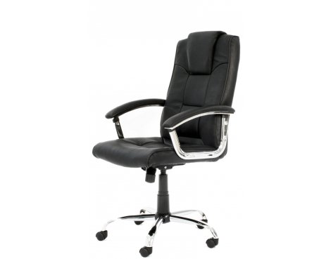 Alphason Houston High Back Leather Executive Desk Chair - Black