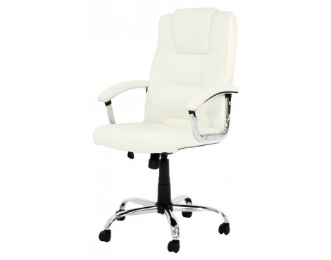 B GRADE/Box slightly damaged Cream High Back Leather Executive Chair