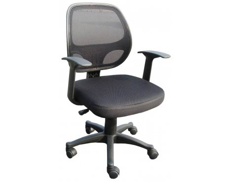 Black Mesh Op\'s Chair