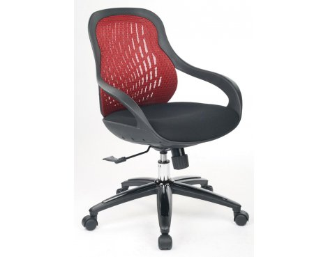 Red Back Designer Mesh Chair