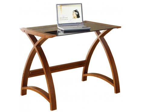 Jual Helsinki Compact Walnut and Glass Desk