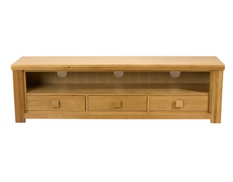 Mark Harris Natural Oak 3 Drawer Barcelona TV Stand