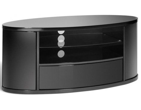 Techlink Ellipse High Gloss Black Oval TV Stand