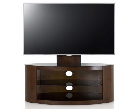 AVF Buckingham Walnut TV Stand With Mount for up to 55""