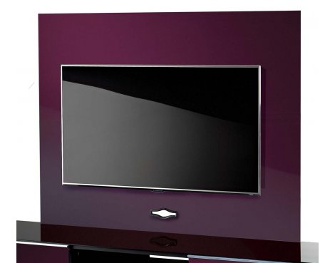 UK-CF TV Stand Backplate in Damson