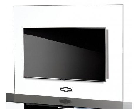 UK-CF TV Stand Backplate in White