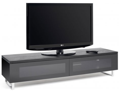 "Techlink Panorama Black TV Stand for up to 55"" TVs"