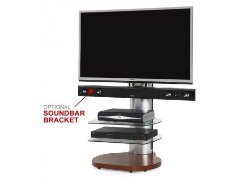Origin II S3 Cherry & Silver Cantilever TV Stand