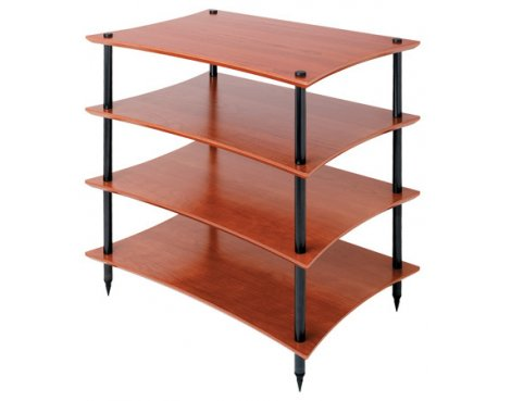 Quadraspire Q4EVO 4 Shelf Hi-Fi stand in Cherry
