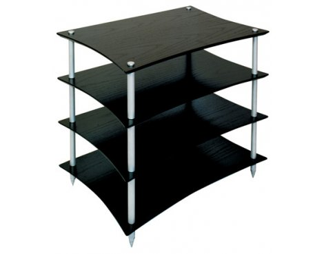 Quadraspire Q4EVO 4 Shelf Hi-Fi stand in Black