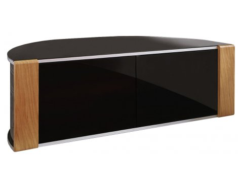 Sirius 1200 Black and Oak Corner TV Cabinet