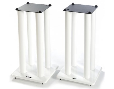 Atacama Speaker Stands in White - Height 600mm