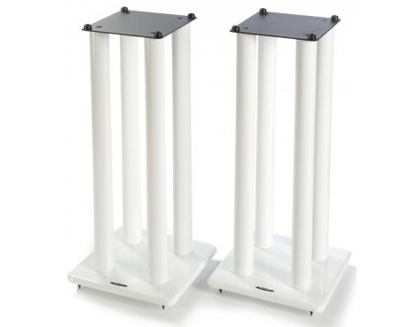 Atacama Pair of Speaker Stands in White - Height 700mm