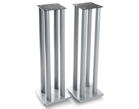 Atacama Speaker Stands in Silver - Height 1000mm