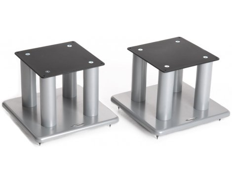 Atacama Pair of Speaker Stands in Silver - Height 300mm