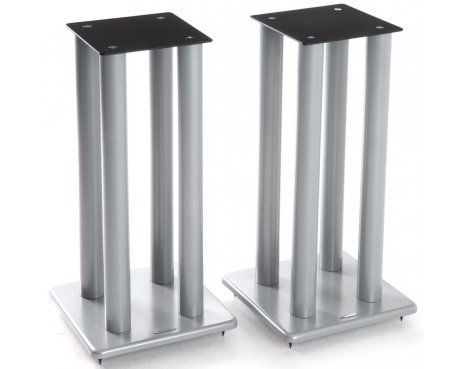 Atacama Speaker Stands in Silver - Height 600mm