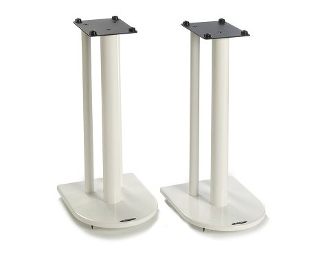 Pair of Speaker Stands in White - Height 60cm