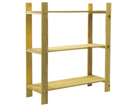 Cedar Timber 3 Shelf Storage Unit