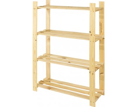 Cedar Timber 4 Shelf Storage Unit