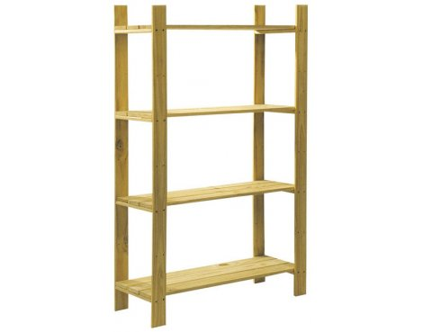Cedar Timber 4 Shelf Storage Unit