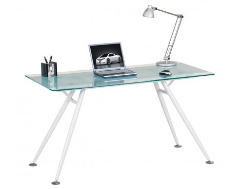 Alphason Springfield Clear Glass Computer Desk