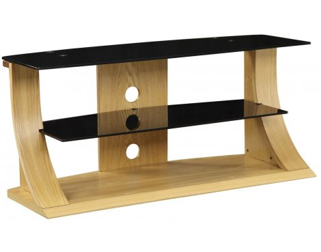 "Jual Curve - Curved Oak TV Stand for up to 50"" TVs"