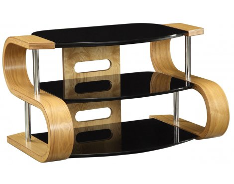 Jual Curve - Curved Oak and glass TV Stand for up to 37\'\'