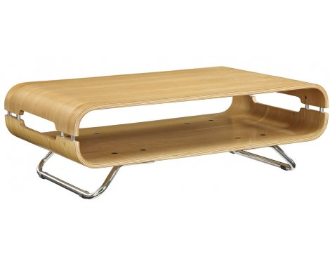 Jual Curve JF302 Chrome And Oak Coffee Table