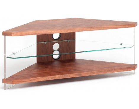 """DISPLAY MODEL - Techlink Air Corner Walnut TV Stand For TVs up to 46\"""""""