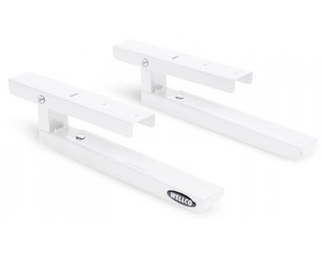 Wellco White Microwave Oven Wall Brackets
