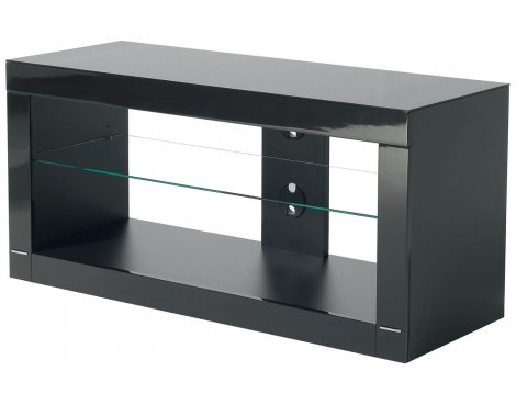 B-Tech High Gloss Black TV Stand For Up To 50""