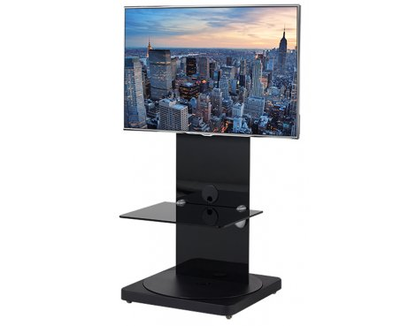B-Tech BTF810 High Gloss Black Corner Cantilever TV Stand