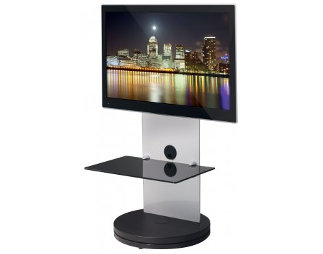 B-Tech BTF810 High Gloss White Cantilever TV Stand