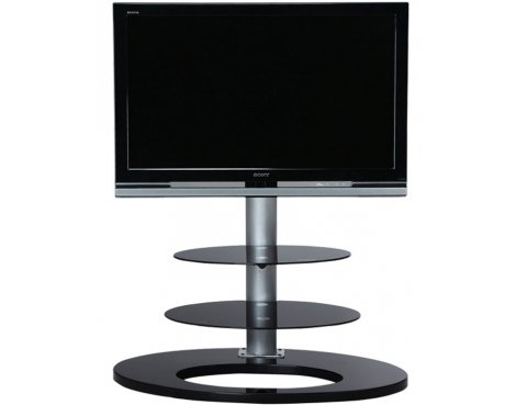 Ateca Ellipse Black Oval Cantilever TV Stand