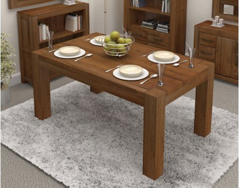 Baumhaus Mayan Walnut Dining Table - Seats 4 People