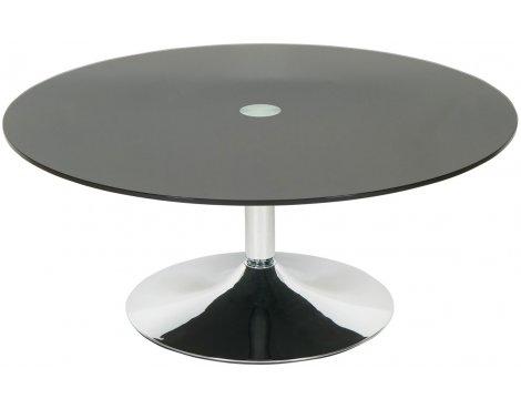 LEVV ROCOFBC Roma Black Glass Round Coffee Table