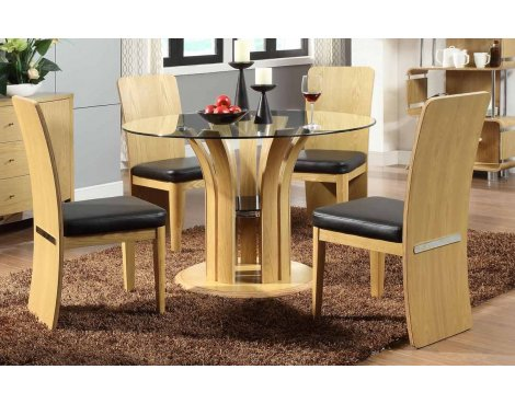 Jual JF601 Oak Table & 4 Chairs