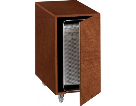 Sequel Mobile Computer Cabinet in Natural Cherry