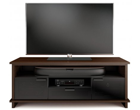 BDI Braden Chocolate Stained Walnut TV Cabinet