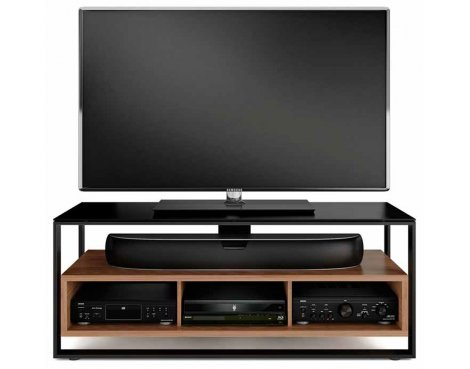 BDI Sonda Black and Walnut TV Stand
