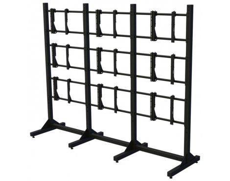 Premier Mounts Modular 3 x 3 Video Wall Floor Stands