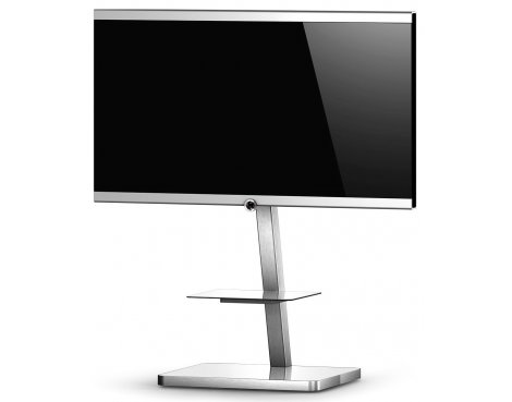 Sonorous Brushed Aluminium and White TV Stand