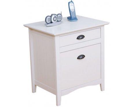 Teknik New England White 2 Drawer Side Table