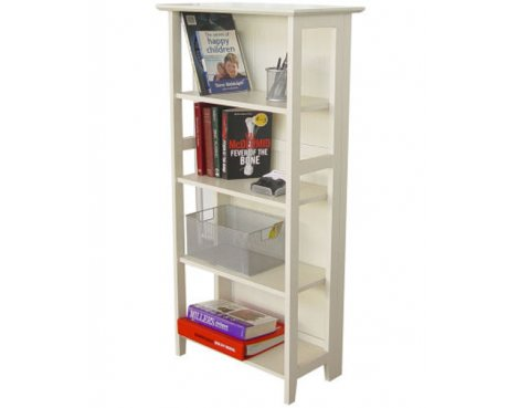 Teknik New England White 5 Bookcase