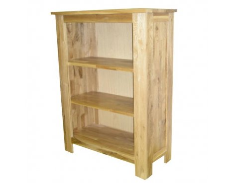 Lansdown Oak Bookcase With 2 Shelves